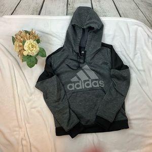Adidas Grey Hoodie Sweatshirt Size M